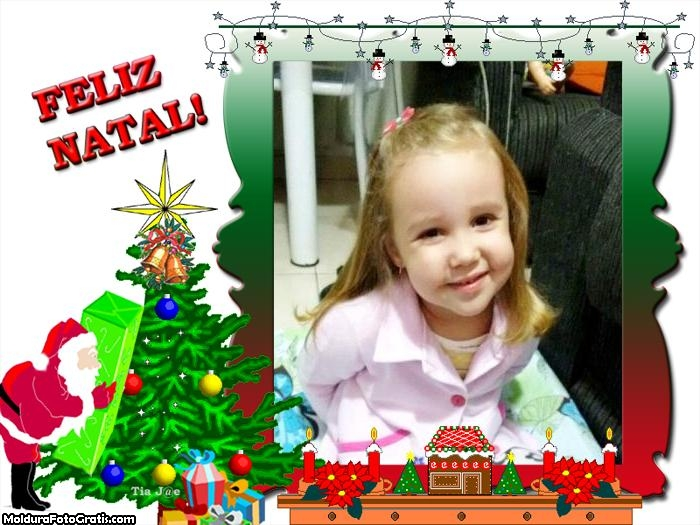 Papai Noel na Árvore de Natal