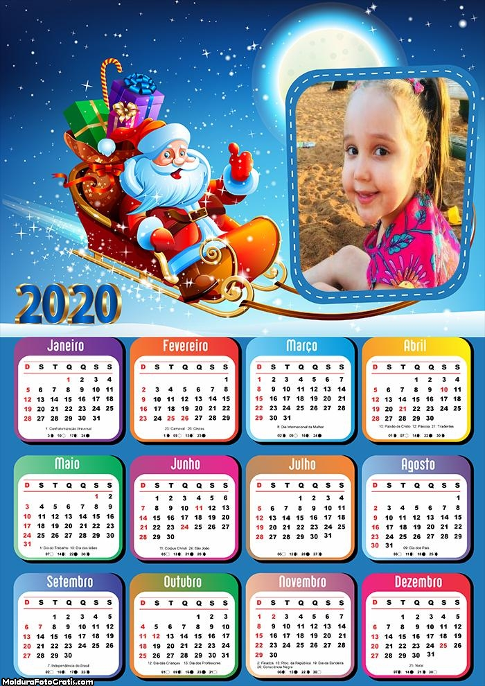 Calendário Papai Noel Trenó 2020