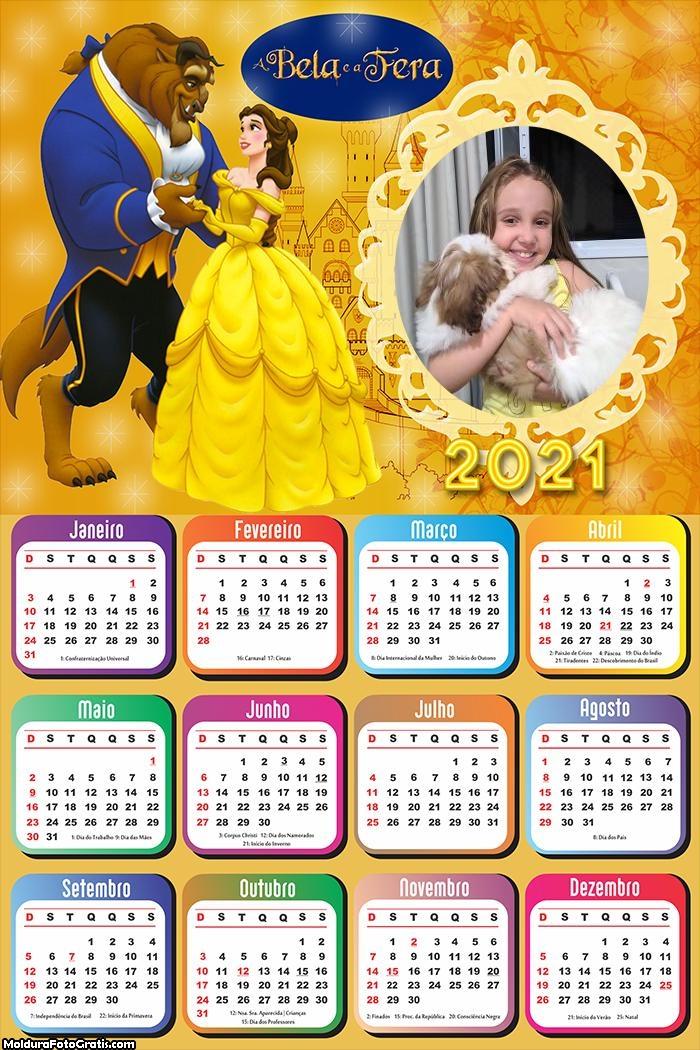 Calendário A Bela e a Fera 2021