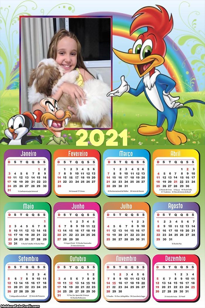 Calendário Pica Pau 2021