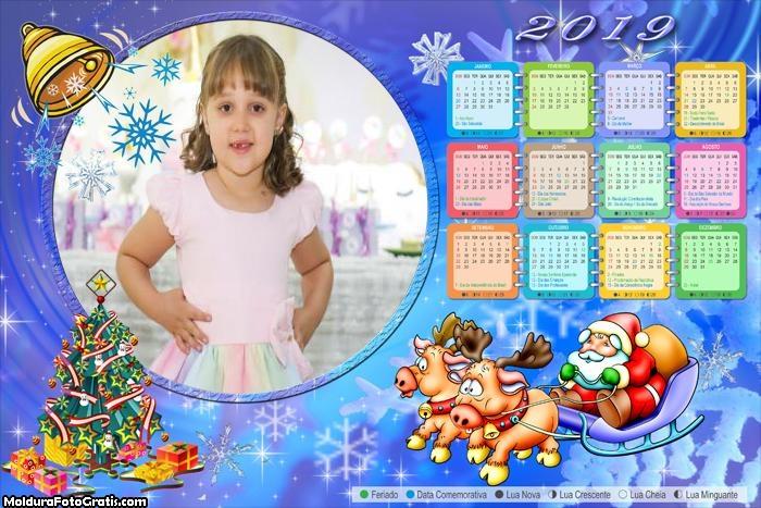 Calendário Entregando Presentes de Natal 2019
