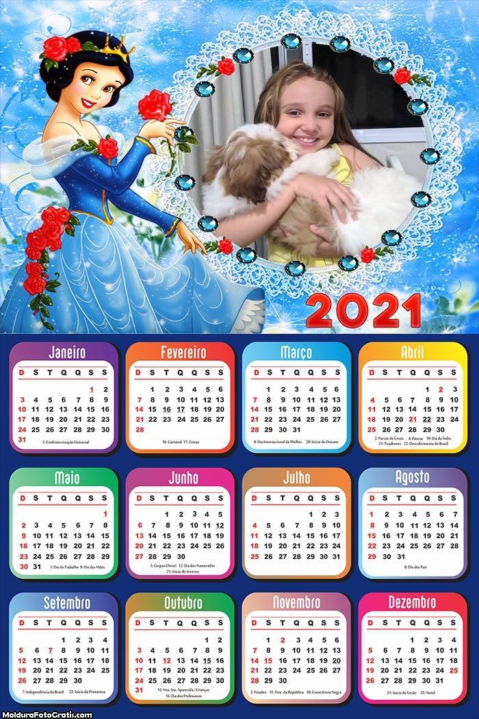 Calendário da Branca de Neve 2021 Disney