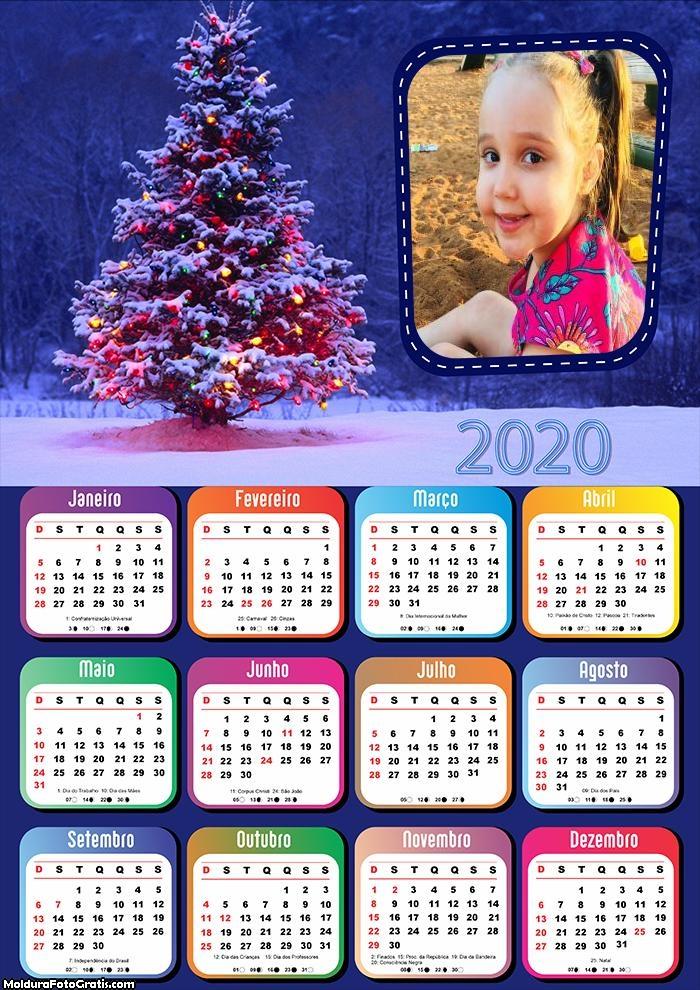 Calendário Natal Feliz 2020