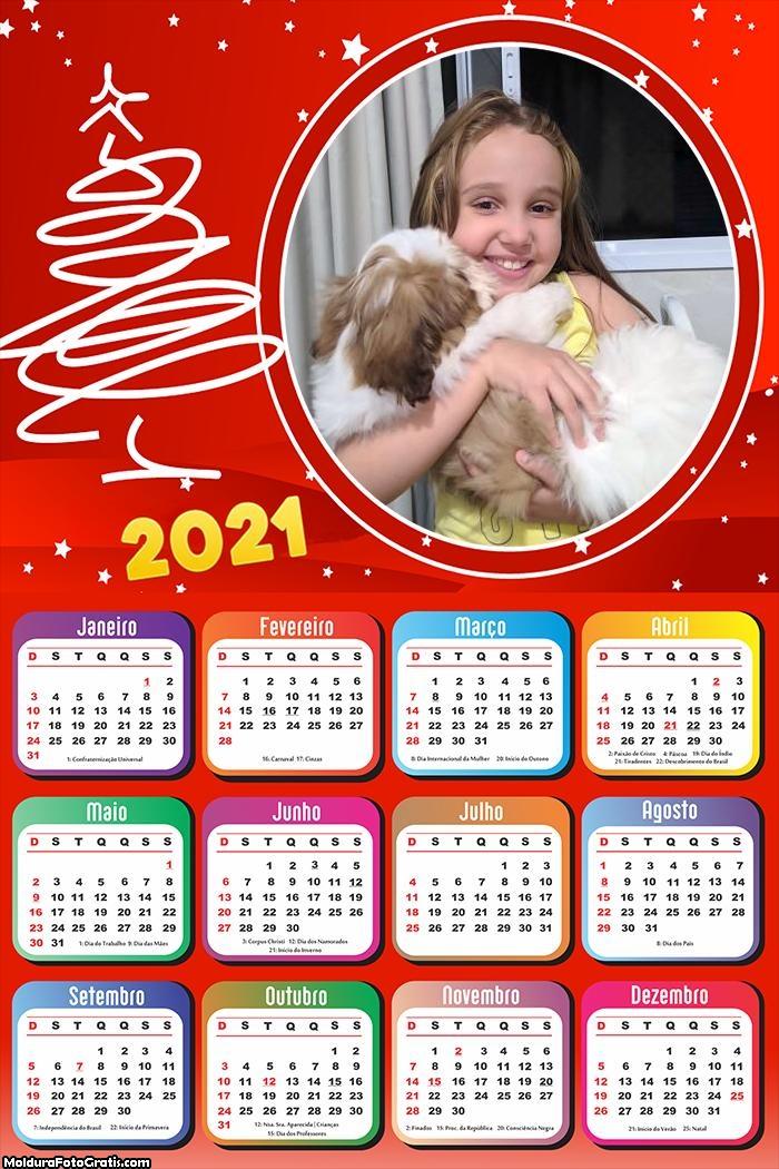 Calendário Natal Efeito 2021