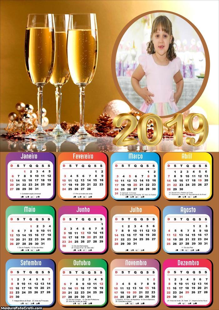 Calendário Champanhe 2019