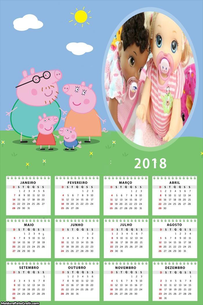 Calendário Peppa Pig 2018