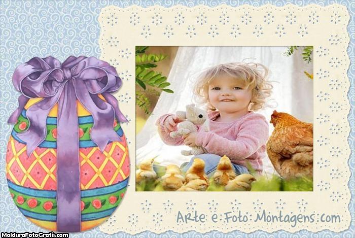 Laço do Ovo de Páscoa Moldura