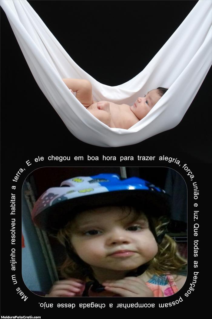 FotoMoldura Mensagem para Recém Nacido