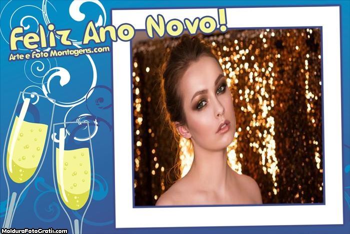 Emoldure sua Foto de Feliz Ano Novo