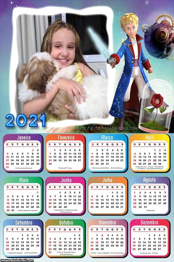 Calendário O Pequeno Príncipe 2021