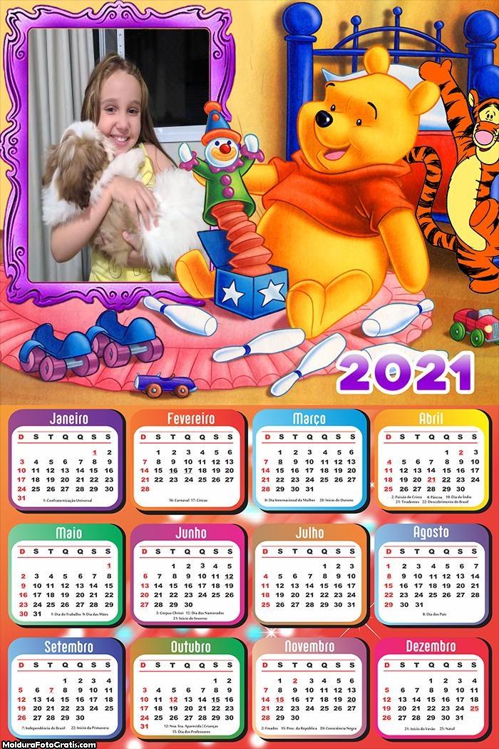 Calendário Ursinho Pooh 2021