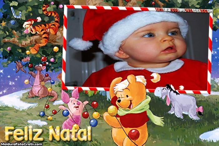 Natal do Ursinho Pooh Montagem de Foto