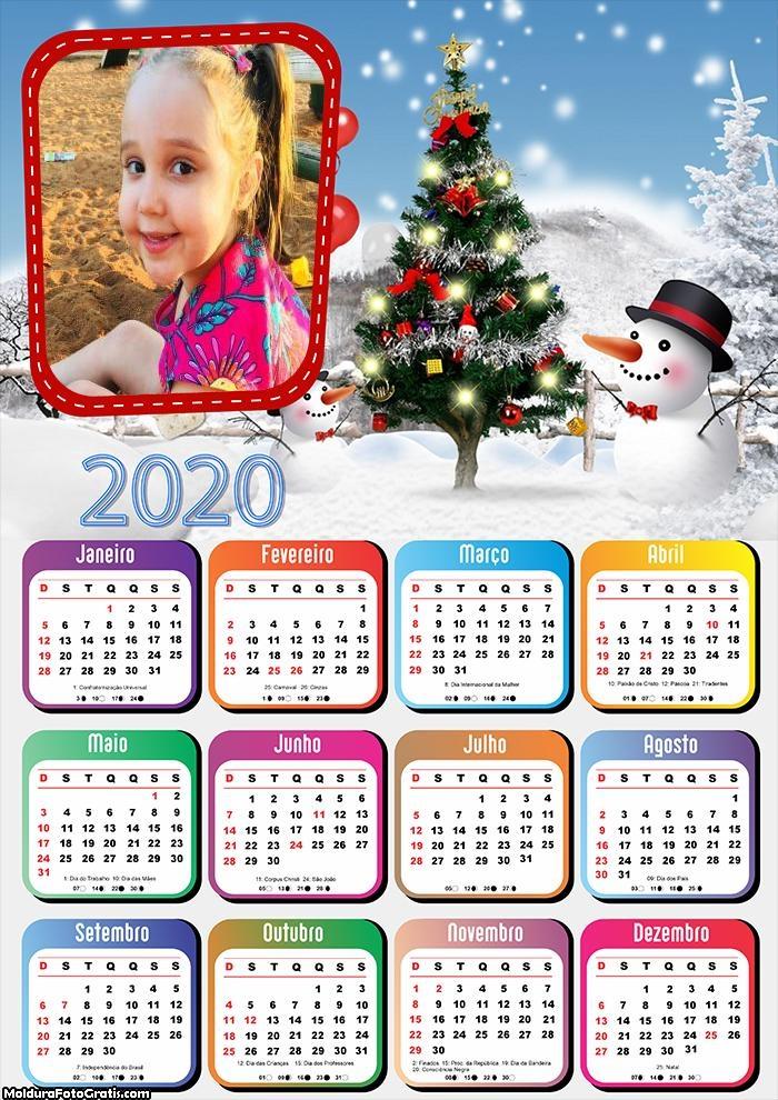 Calendário Nevando 2020