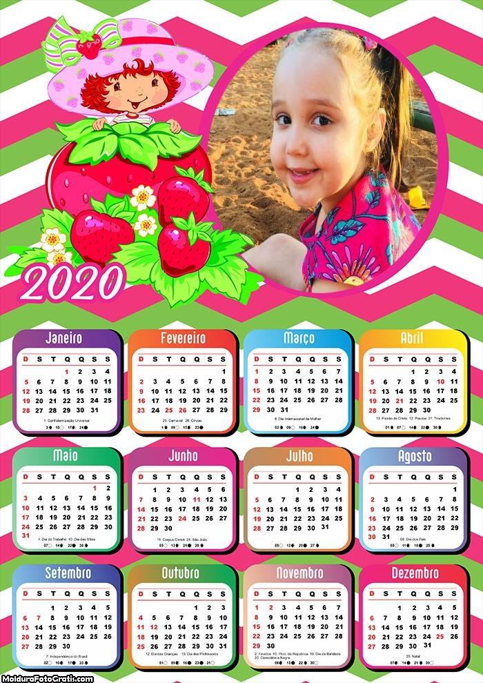 Calendário Moranguinho 2020
