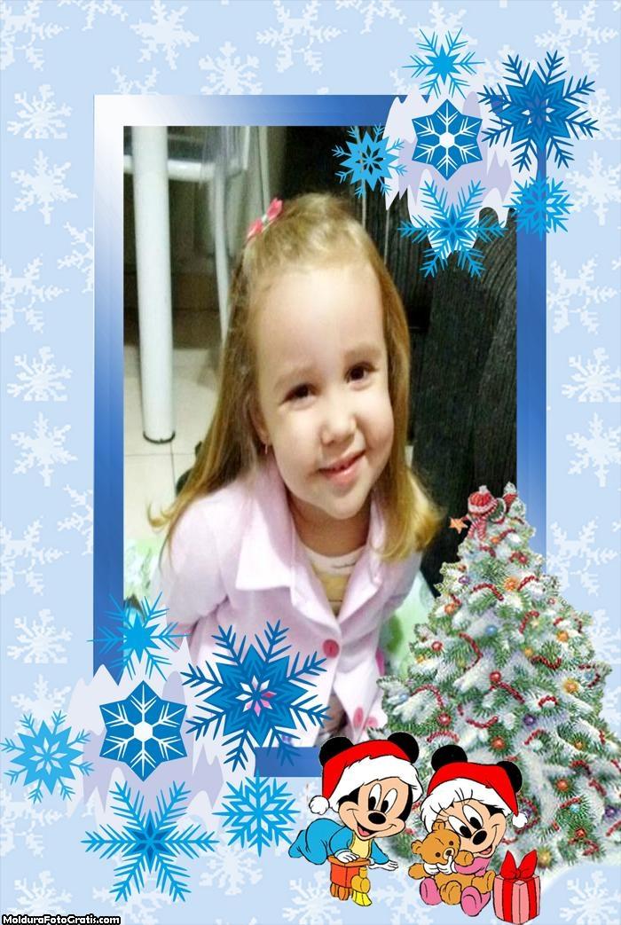 Moldura Natal do Mickey