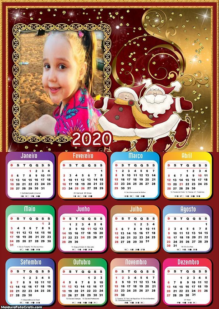 Calendário Papai Noel Amigo 2020