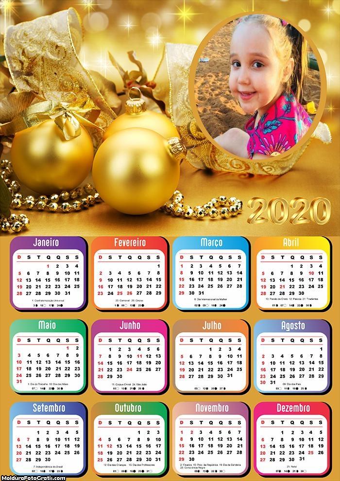 Calendário Natal de Ouro 2020