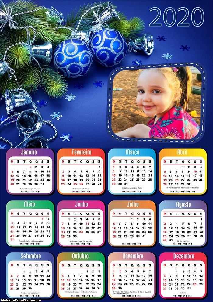 Calendário Lindo Enfeite Natalino 2020
