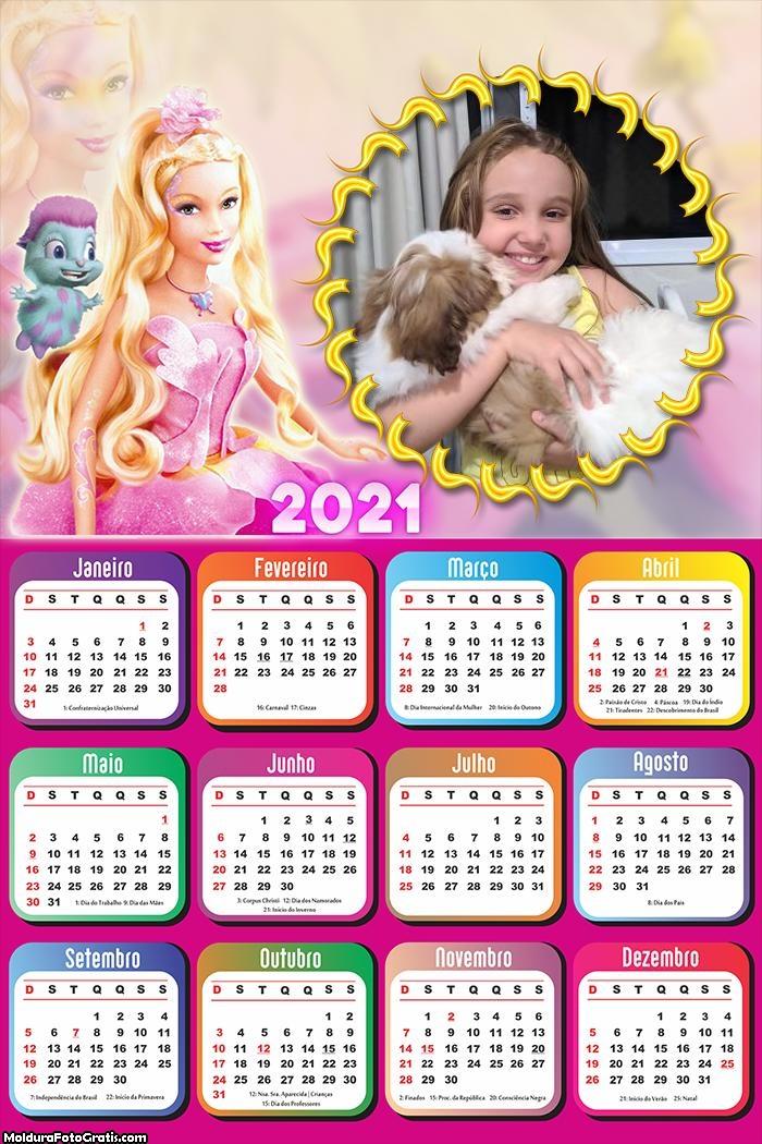 Calendário Barbie Fairytopia 2021