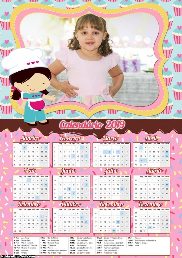 Calendário Confeitaria 2019