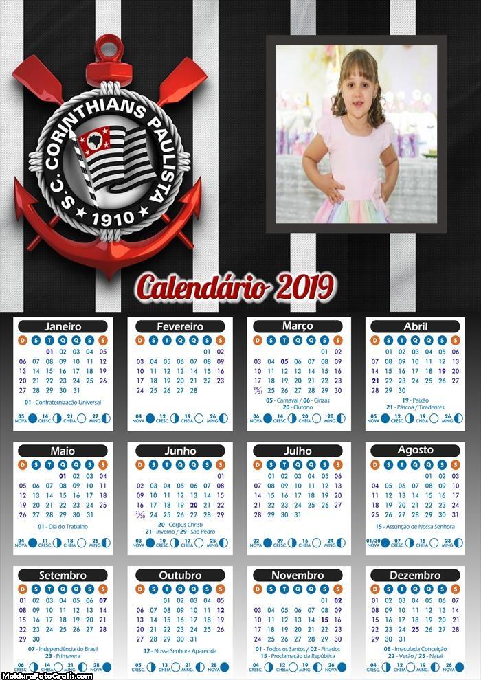 Calendário do Corinthians 2019