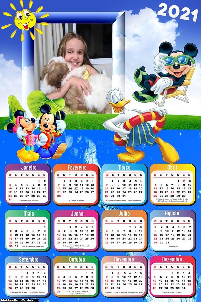 Calendário Turma do Mickey 2021