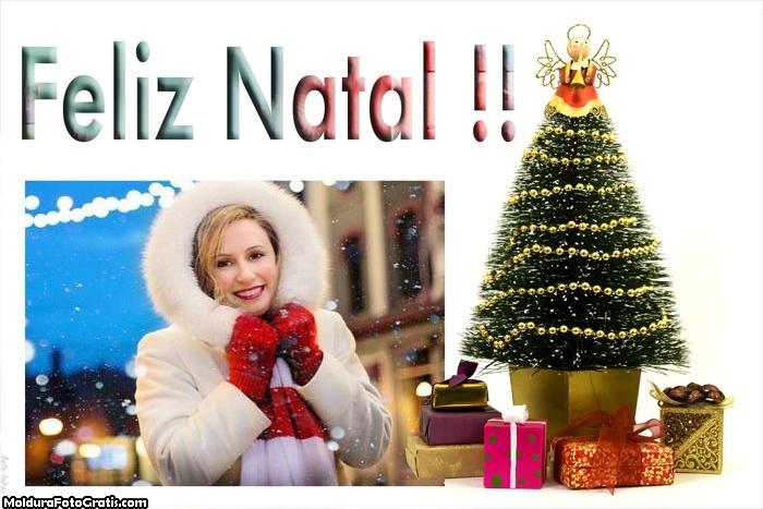 Árvore de Natal Decorada Moldura