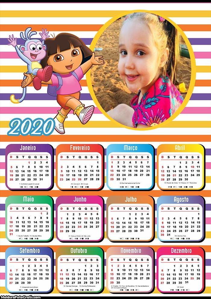 Calendário Dora Aventureira 2020