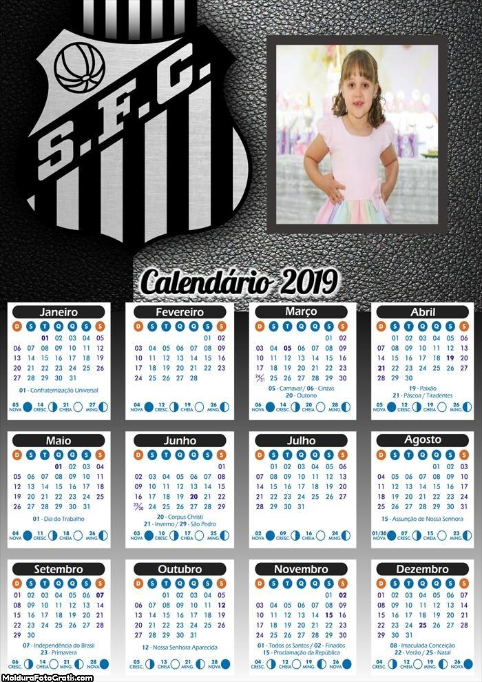 Calendário do Santos 2019