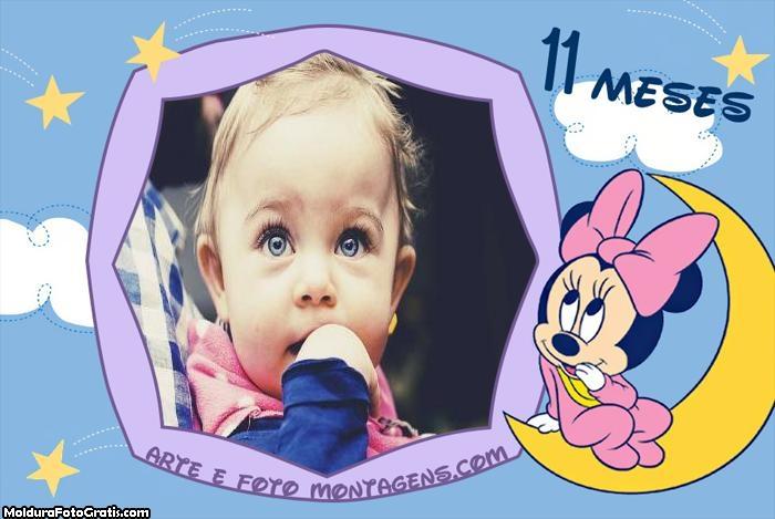 Minnie Baby 11 Meses Moldura