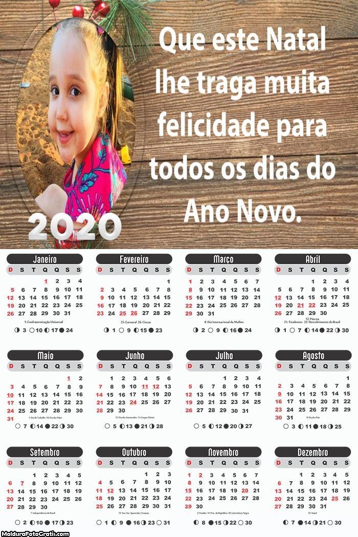 Calendário Mensagem de Natal 2020