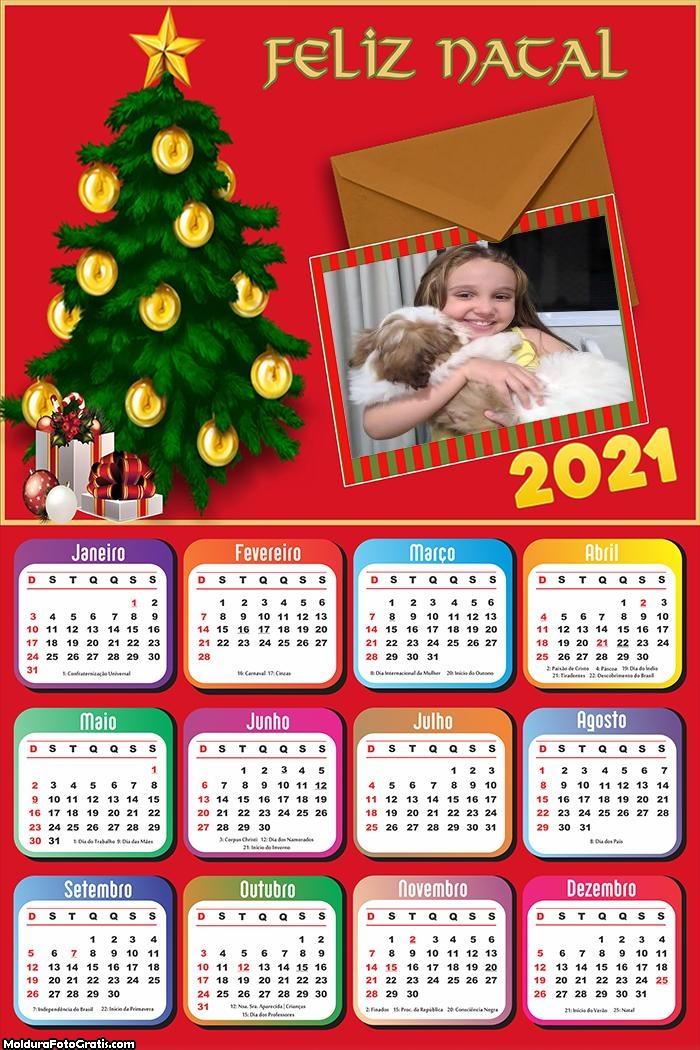 Calendário Cartão de Natal 2021