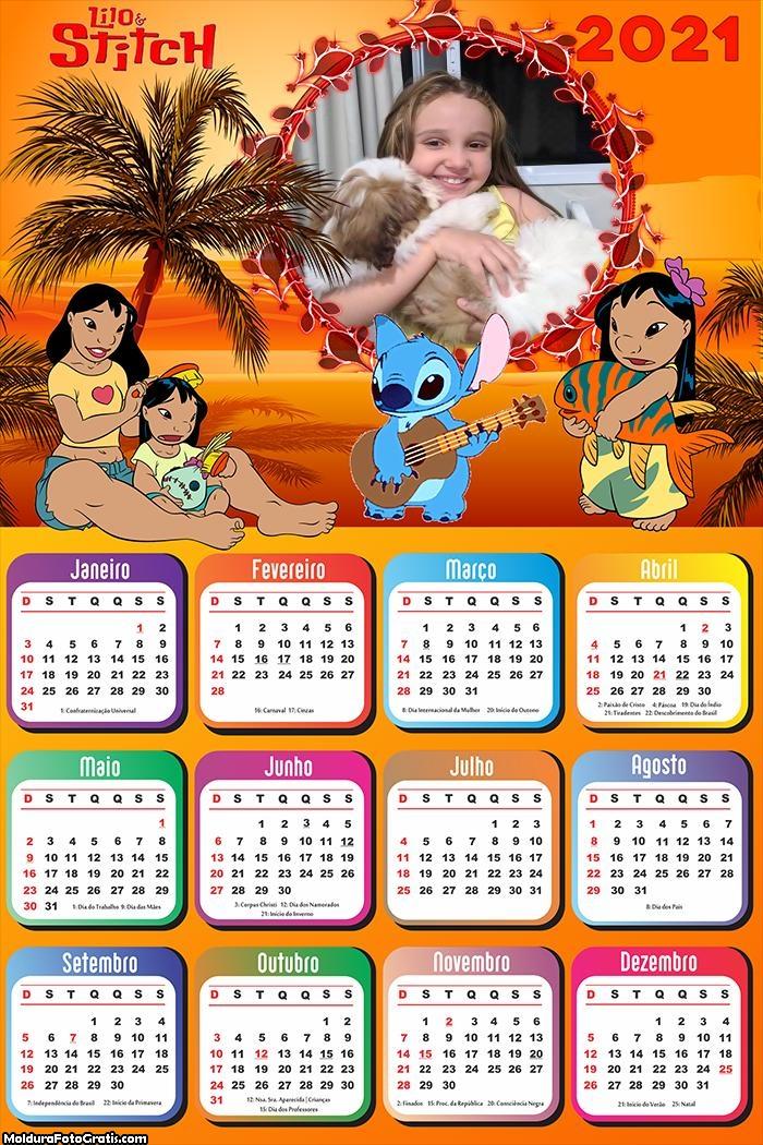 Calendário Lilo e Stitch 2021
