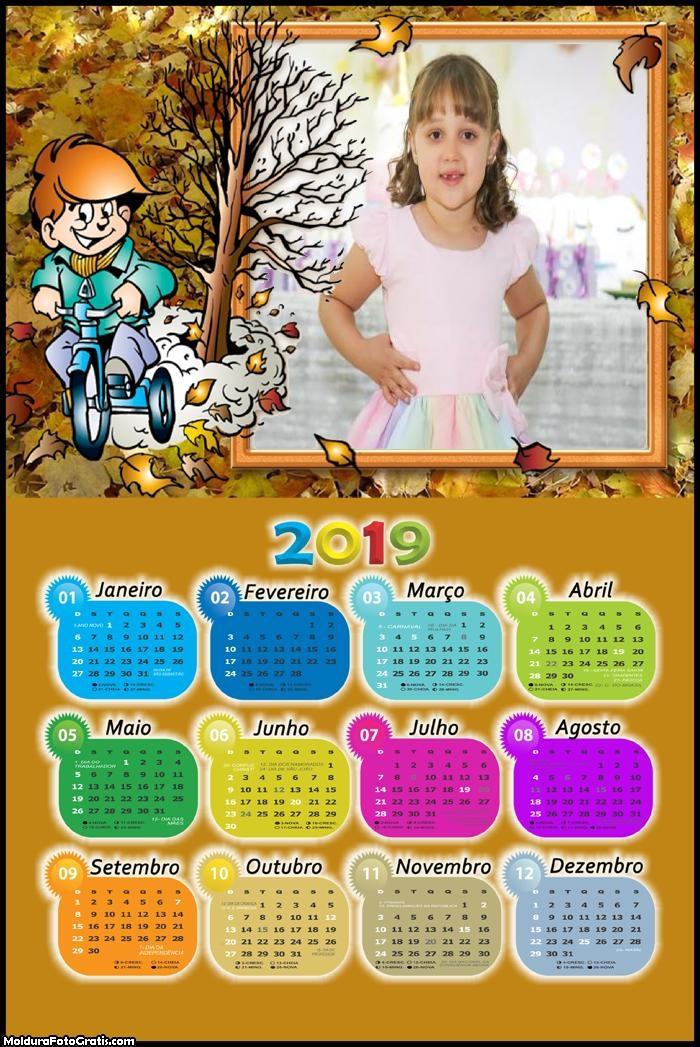 Calendário Outono Infantil 2019
