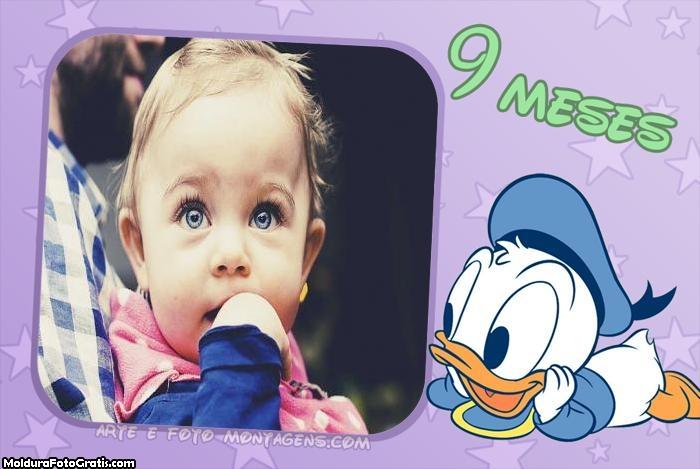 Pato Donald Baby 9 Meses Moldura