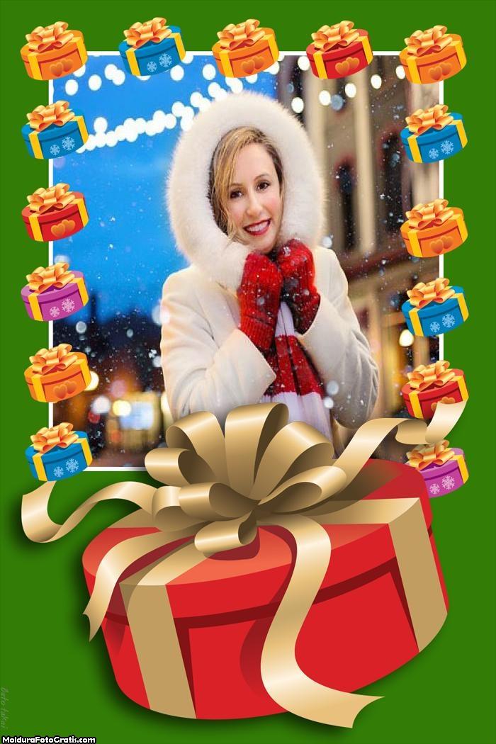 Presente de Natal Namorado Moldura