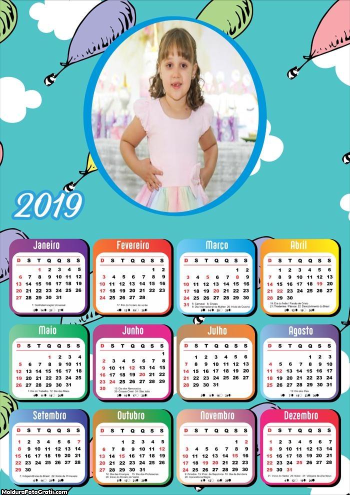 Calendário Balãozinho 2019