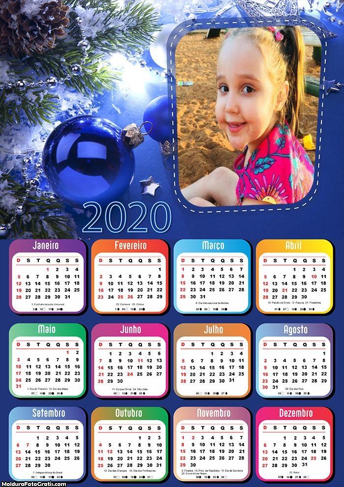Calendário Bola Azul Natal 2020