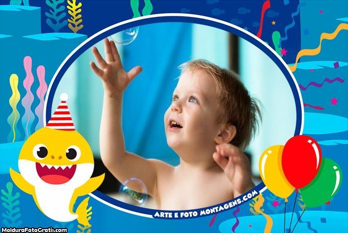 Baby Shark Aniversário Montagem de Foto