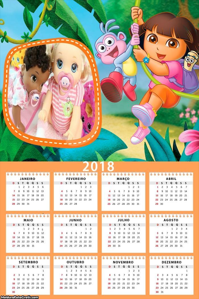 Calendário Dora 2018