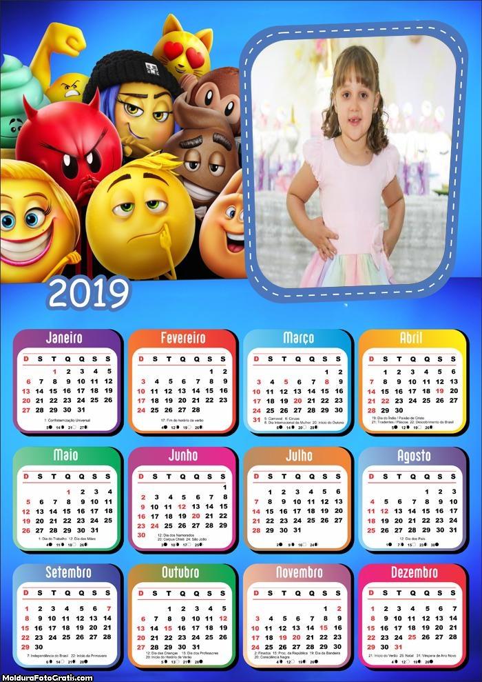 Calendário Emoji o Filme 2019