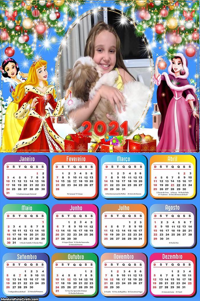 Calendário Natal Princesa da Disney 2021