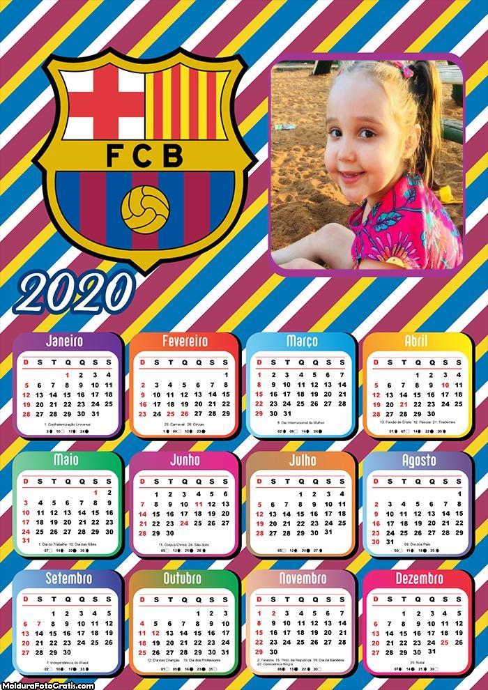 Calendário Barcelona 2020