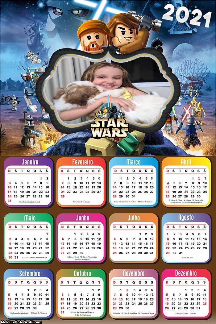 Calendário Star Wars Lego 2021