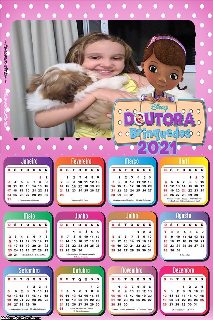 Calendário Doutora Brinquedos 2021