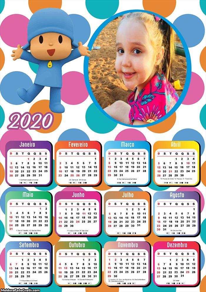Calendário Pocoyo 2020