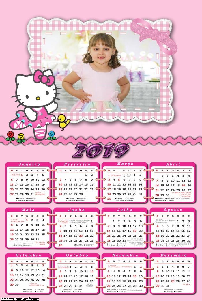 Calendário Hello Kitty Bailarina 2019