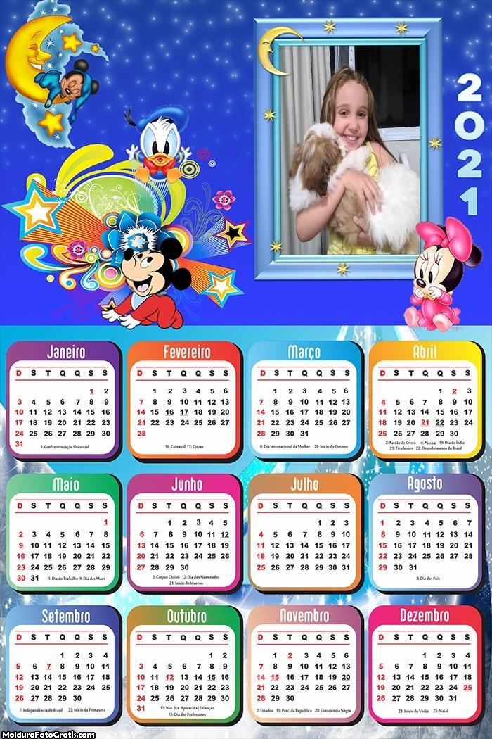 Calendário Infantil Disney Baby 2021