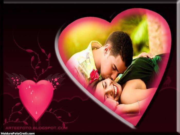 Coração Apaixonado Moldura