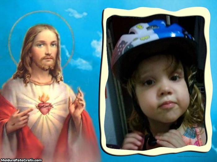 FotoMoldura Jesus Cristo no Céu